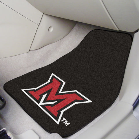 Miami University - OH 2-piece Carpeted Car Mats 17x27 - FANMATS - Dropship Direct Wholesale