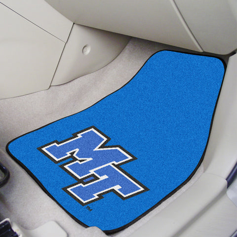 Middle Tennessee State 2-piece Carpeted Car Mats 17x27 - FANMATS - Dropship Direct Wholesale