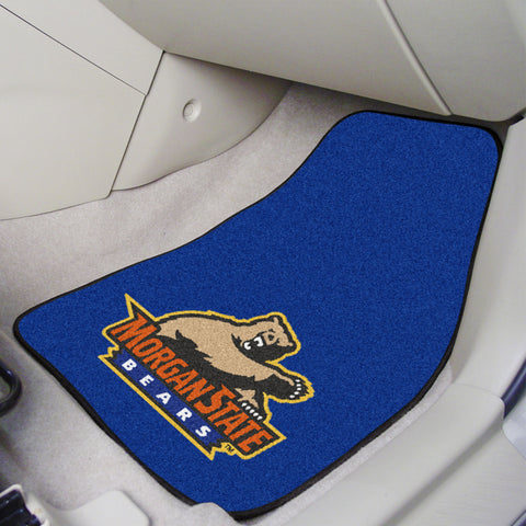 Morgan State 2-piece Carpeted Car Mats 17x27 - FANMATS - Dropship Direct Wholesale