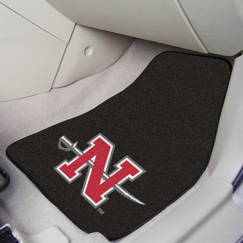 Nicholls State 2-piece Carpeted Car Mats 17x27 - FANMATS - Dropship Direct Wholesale
