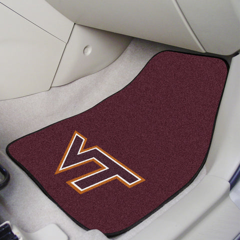 Virginia Tech 2-piece Carpeted Car Mats 17x27 - FANMATS - Dropship Direct Wholesale