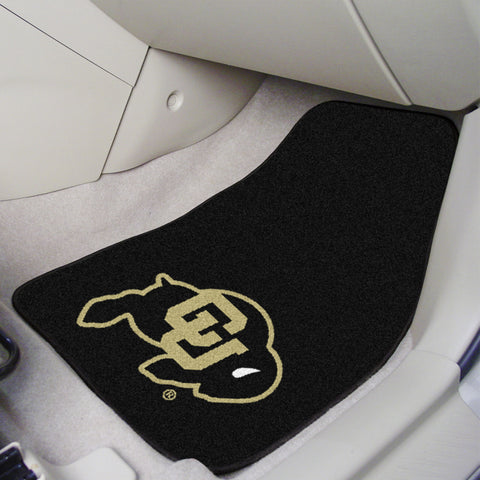 University of Colorado 2-piece Carpeted Car Mats 17x27 - FANMATS - Dropship Direct Wholesale