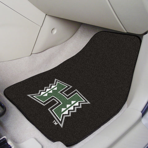 University of Hawaii 2-piece Carpeted Car Mats 17x27 - FANMATS - Dropship Direct Wholesale
