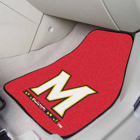 University of Maryland 2-piece Carpeted Car Mats 17x27 - FANMATS - Dropship Direct Wholesale