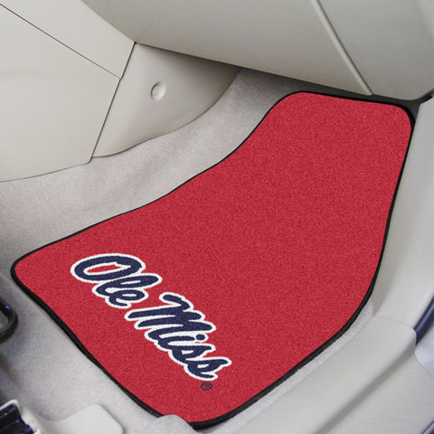 University of Mississippi 2-piece Carpeted Car Mats 17x27 - FANMATS - Dropship Direct Wholesale
