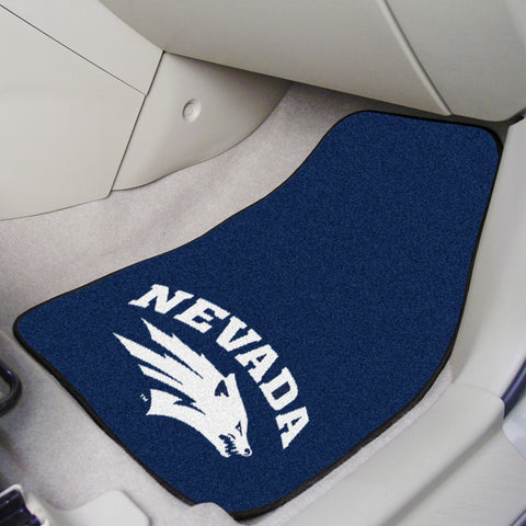 University of Nevada 2-piece Carpeted Car Mats 17x27 - FANMATS - Dropship Direct Wholesale