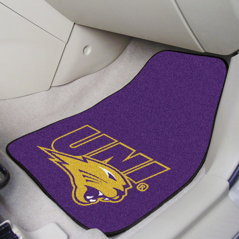 University of Northern Iowa 2-piece Carpeted Car Mats 17x27 - FANMATS - Dropship Direct Wholesale