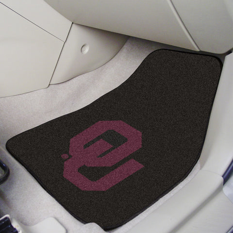 University of Oklahoma 2-piece Carpeted Car Mats 17x27 - FANMATS - Dropship Direct Wholesale