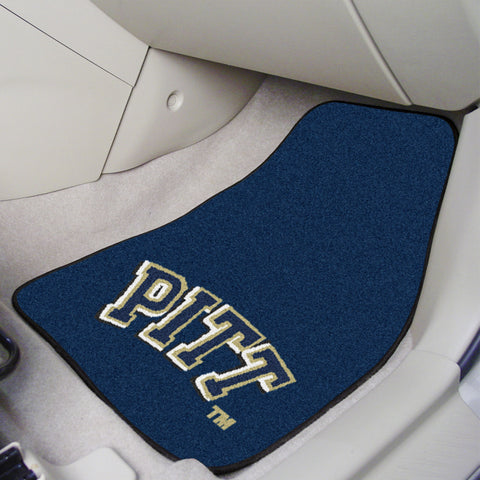 University of Pittsburgh 2-piece Carpeted Car Mats 17x27 - FANMATS - Dropship Direct Wholesale