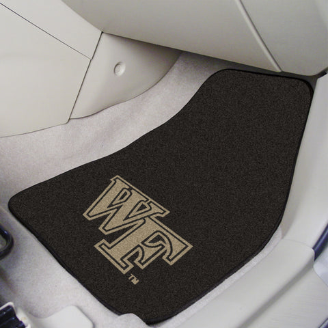 Wake Forest 2-piece Carpeted Car Mats 17x27 - FANMATS - Dropship Direct Wholesale