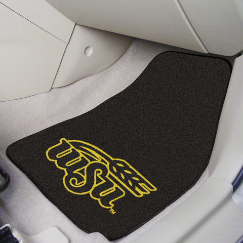 Wichita State 2-piece Carpeted Car Mats 17x27 - FANMATS - Dropship Direct Wholesale