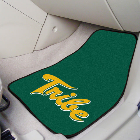 William & Mary 2-piece Carpeted Car Mats 17x27