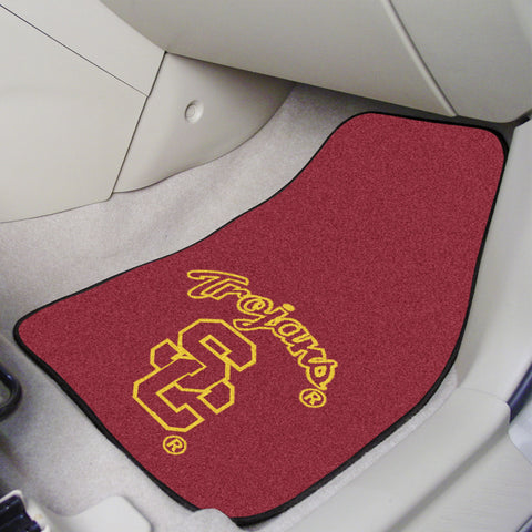 University of Southern California 2-piece Carpeted Car Mats 17x27 - FANMATS - Dropship Direct Wholesale