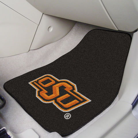 Oklahoma State 2-piece Carpeted Car Mats 17x27 - FANMATS - Dropship Direct Wholesale