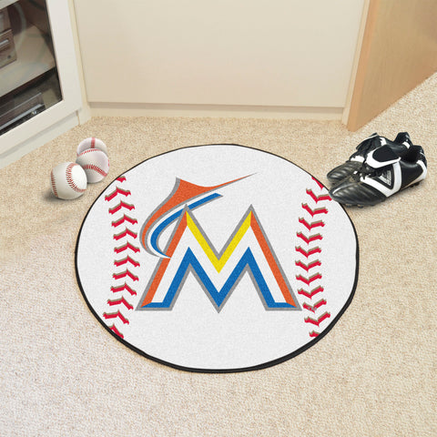 Miami Marlins Baseball Mat 27 diameter