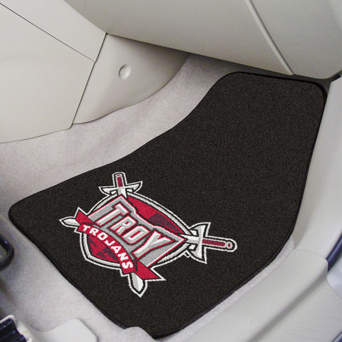 Troy University 2-piece Carpeted Car Mats 17x27 - FANMATS - Dropship Direct Wholesale