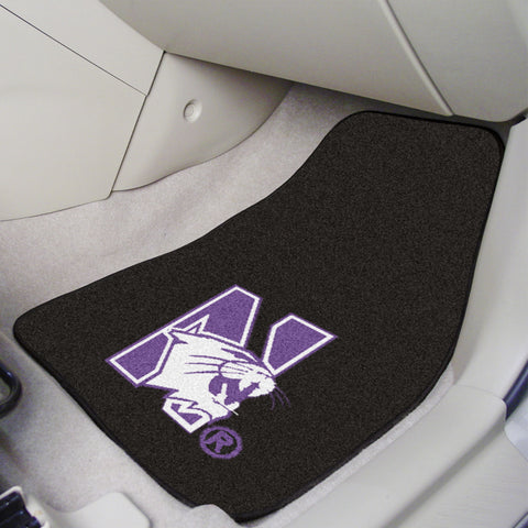 Northwestern University 2-piece Carpeted Car Mats 17x27 - FANMATS - Dropship Direct Wholesale