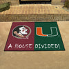Florida State-Miami NCAA House Divided Rugs 33.75x42.5