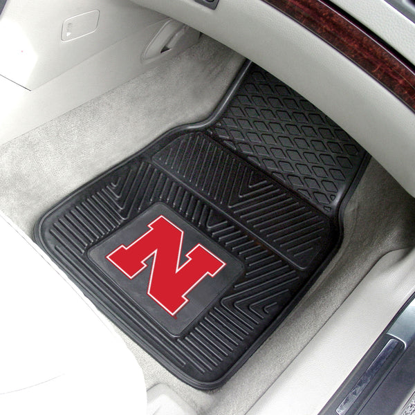 University of Nebraska Heavy Duty 2-Piece Vinyl Car Mats 17x27
