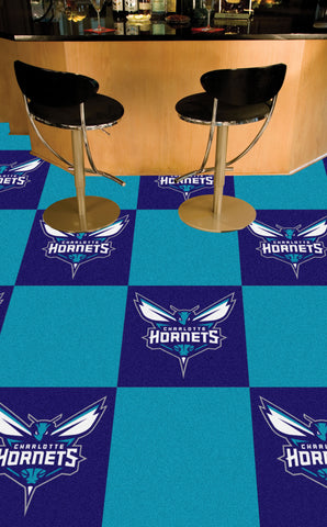 NBA - Charlotte Hornets Carpet Tiles 18x18 tiles - FANMATS - Dropship Direct Wholesale