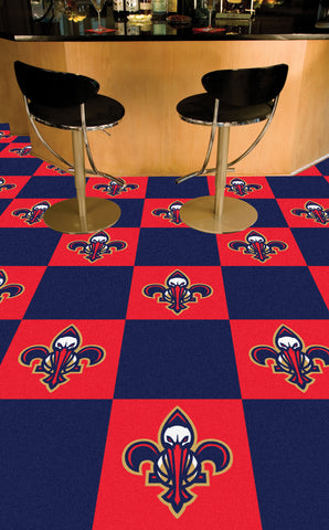 NBA - New Orleans Pelicans Carpet Tiles 18x18 tiles - FANMATS - Dropship Direct Wholesale