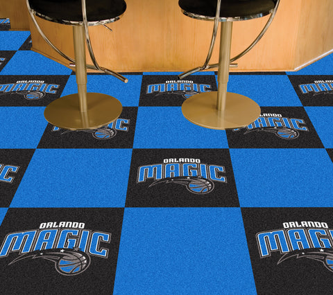 NBA - Orlando Magic Carpet Tiles 18x18 tiles - FANMATS - Dropship Direct Wholesale