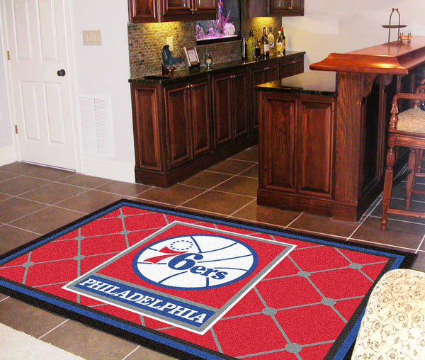 NBA - Philadelphia 76ers Rug 5x8 - FANMATS - Dropship Direct Wholesale