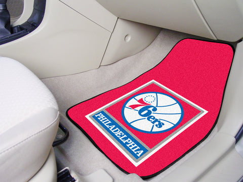 NBA - Philadelphia 76ers 2-piece Carpeted Car Mats 17x27 - FANMATS - Dropship Direct Wholesale