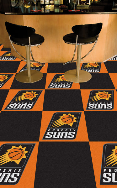 NBA - Phoenix Suns Carpet Tiles 18x18 tiles - FANMATS - Dropship Direct Wholesale