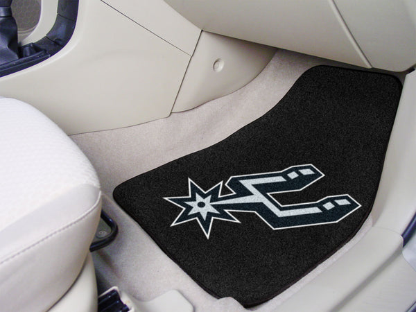 NBA - San Antonio Spurs 2-piece Carpeted Car Mats 17x27 - FANMATS - Dropship Direct Wholesale