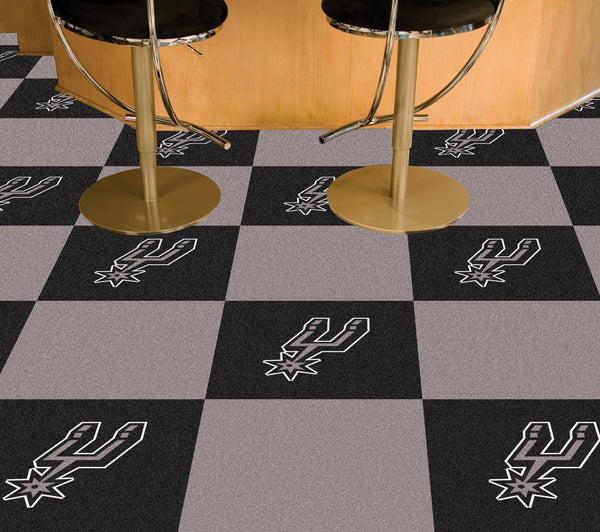 NBA - San Antonio Spurs Carpet Tiles 18x18 tiles - FANMATS - Dropship Direct Wholesale