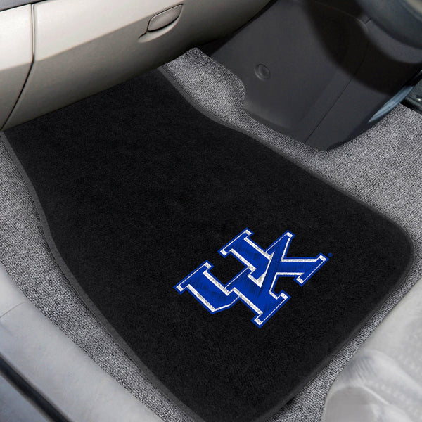 University of Kentucky 2-piece Embroidered Car Mats 18x27 - FANMATS - Dropship Direct Wholesale