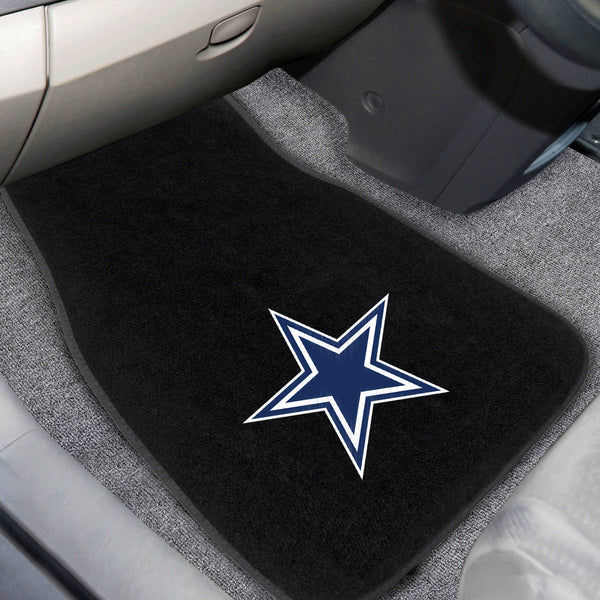 Dallas Cowboys 2-piece Embroidered Car Mats 18x27 - FANMATS - Dropship Direct Wholesale