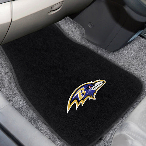 Baltimore Ravens 2-piece Embroidered Car Mats 18x27 - FANMATS - Dropship Direct Wholesale