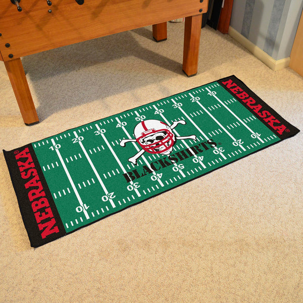 University of Nebraska Blackshirts Runner 30x72