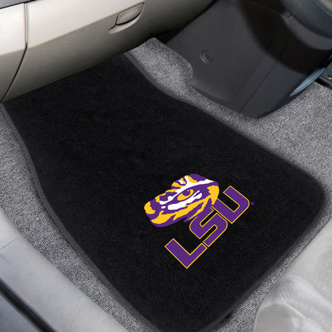 Louisiana State 2-piece Embroidered Car Mats 18x27 - FANMATS - Dropship Direct Wholesale
