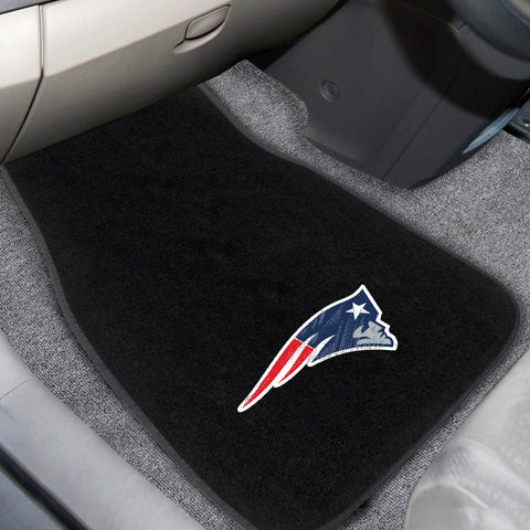 New England Patriots 2-piece Embroidered Car Mats 18x27 - FANMATS - Dropship Direct Wholesale
