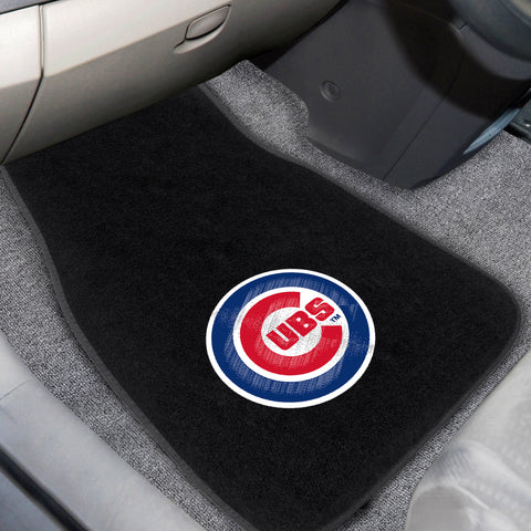 Chicago Cubs 2-piece Embroidered Car Mats 18x27 - FANMATS - Dropship Direct Wholesale