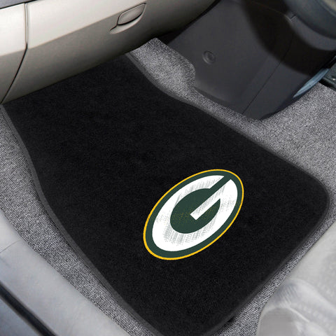 Green Bay Packers 2-piece Embroidered Car Mats 18x27 - FANMATS - Dropship Direct Wholesale