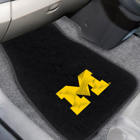 University of Michigan 2-piece Embroidered Car Mats 18x27 - FANMATS - Dropship Direct Wholesale