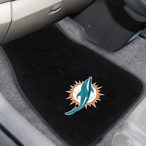 Miami Dolphins 2-piece Embroidered Car Mats 18x27 - FANMATS - Dropship Direct Wholesale