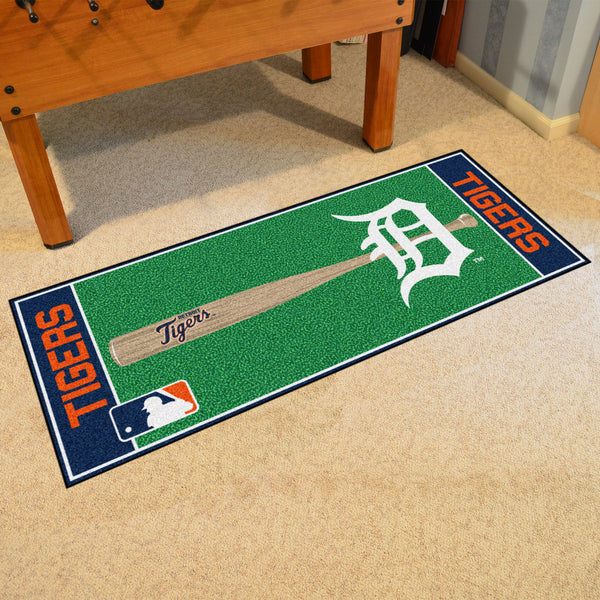 Detroit Tigers Baseball Runner 30x72