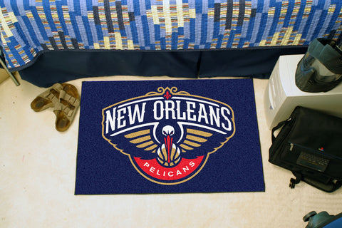 NBA - New Orleans Pelicans Starter Rug 19 x 30 - FANMATS - Dropship Direct Wholesale