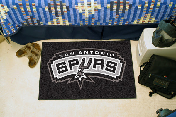 NBA - San Antonio Spurs Starter Rug 19 x 30 - FANMATS - Dropship Direct Wholesale