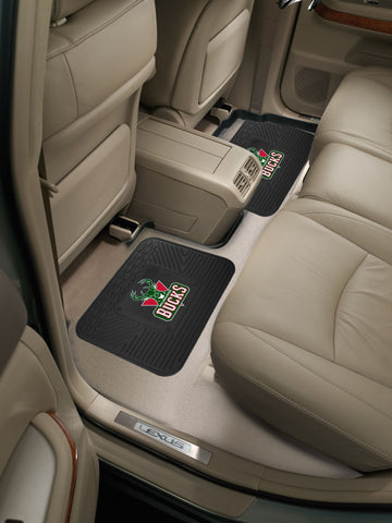 NBA - Milwaukee Bucks Backseat Utility Mats 2 Pack 14x17 - FANMATS - Dropship Direct Wholesale