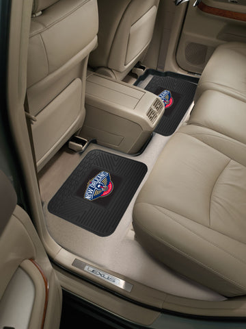 NBA - New Orleans Pelicans Backseat Utility Mats 2 Pack 14x17 - FANMATS - Dropship Direct Wholesale