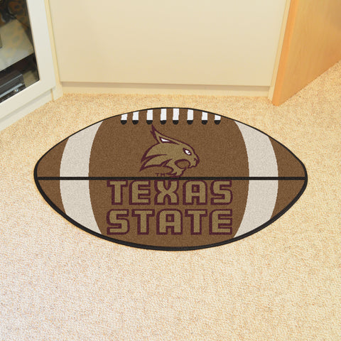 Texas State Football Rug 20.5x32.5 - FANMATS - Dropship Direct Wholesale