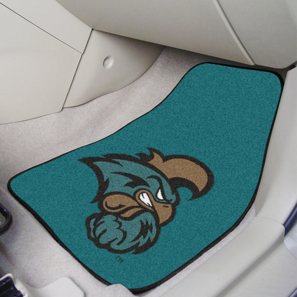 Coastal Carolina University 2-piece Carpeted Car Mats 17x27 - FANMATS - Dropship Direct Wholesale