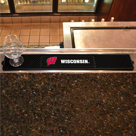University of Wisconsin Drink Mat 3.25x24 - FANMATS - Dropship Direct Wholesale