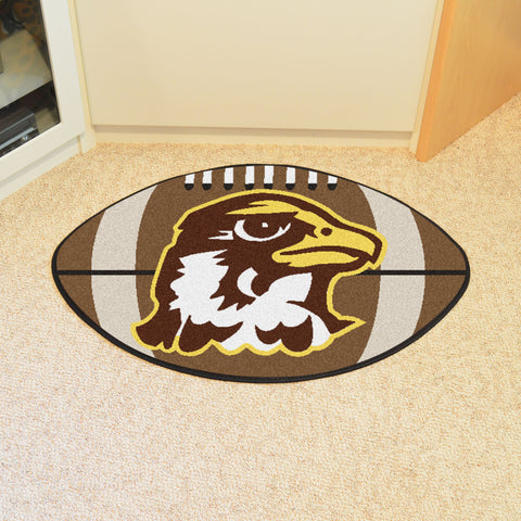 Quincy University Football Rug 20.5x32.5 - FANMATS - Dropship Direct Wholesale